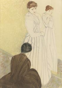 Art Prints of The Fitting by Mary Cassatt