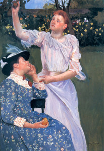 Art Prints of Young Women Picking Fruit by Mary Cassatt