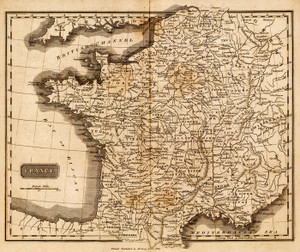 Art Prints of France, 1825 (0124006) by Mathew Carey