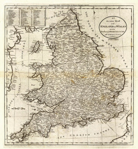 Art Prints of England and Wales, 1796 (2862007) by Mathew Carey