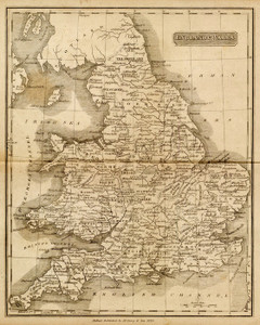 Art Prints of England and Wales, 1825 (0124003) by Matthew Carey