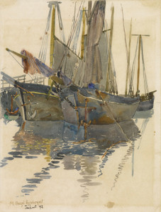 Art Prints of A Study of Two Schooners by Maurice Prendergast