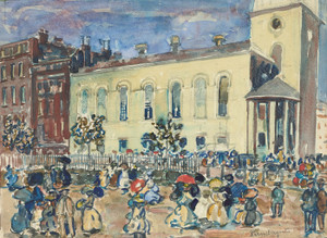 Art Prints of Park Street Church, Boston by Maurice Prendergast