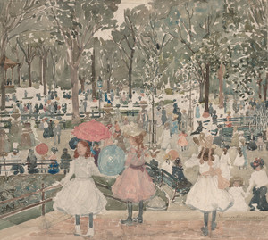 Art Prints of The Mall, Central Park by Maurice Prendergast