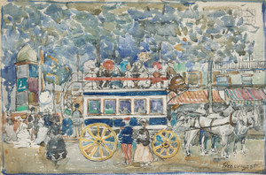 Art Prints of The Paris Omnibus by Maurice Prendergast