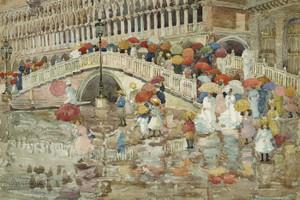 Art Prints of Umbrellas in the Rain by Maurice Prendergast