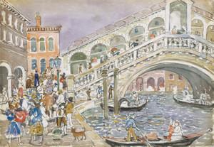 Art Prints of Rialto Bridge by Maurice Prendergast