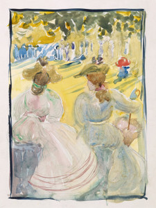 Art Prints of Two Women Sitting in a Park by Maurice Prendergast