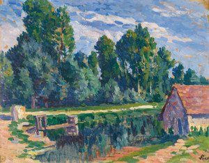 Art Prints of Around Moulineux House on the Waterfront by Maximilien Luce
