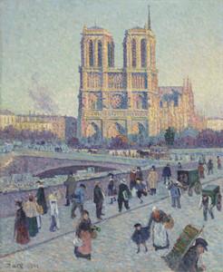Art Prints of The Quai Saint Michel and Notre Dame by Maximilien Luce