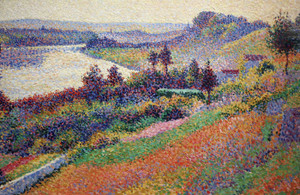 Art Prints of The Seine at Harblay by Maximilien Luce