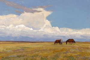 Clouds and Prairie by Maynard Dixon | Fine Art Print