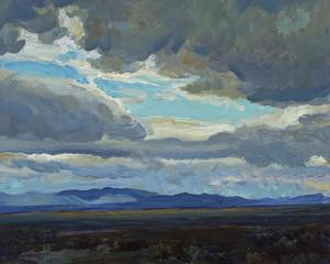 Approaching Storm, Coast Range, California by Maynard Dixon | Fine Art Print
