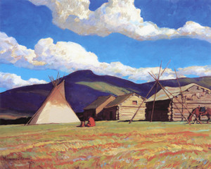 Art Prints of Home of the Half Breed by Maynard Dixon