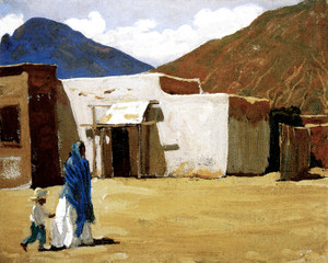 Art Prints of In Old Tucson by Maynard Dixon