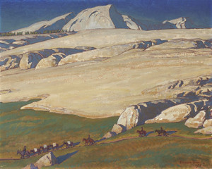 Art Prints of Moraine and Meadow, Sierra Nevada, California by Maynard Dixon