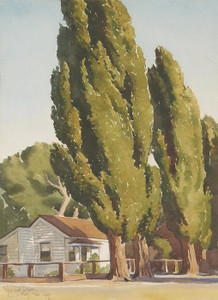 Art Prints of Poplars of Carson by Maynard Dixon