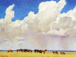 Art Prints of Prairie Shower by Maynard Dixon
