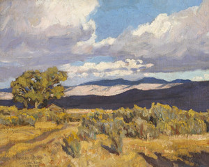 Art Prints of Storm Shadows on Coso Range by Maynard Dixon