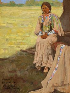 Art Prints of Kla-at-la, St. Ignatius, Montana by Maynard Dixon