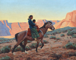 Art Prints of Navajo Mother by Maynard Dixon