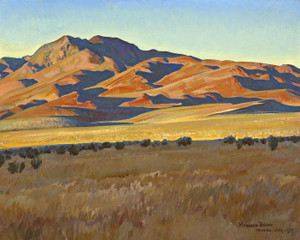 Art Prints of Mountains in Sunset Light by Maynard Dixon