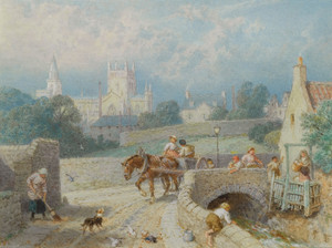 Art Prints of Dunfermline Abbey by Myles Birket Foster