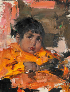 Art Prints of My Gardener's Baby by Nicolai Fechin