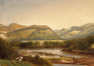 Art Prints of View on the Upper Delaware by Norton Bush