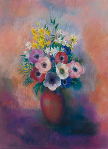 Art Prints of Vase of Anemones by Odilon Redon
