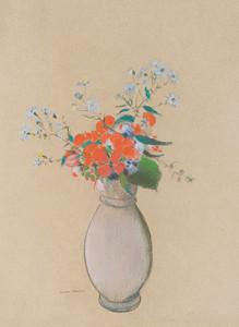 Art Prints of Vase of Flowers II by Odilon Redon