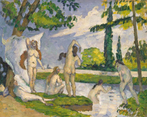 Art Prints of Six Bathers by Paul Cezanne