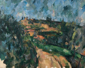 Art Prints of Bend of the Road at the Tip of the Chemin des Lauves by Paul Cezanne