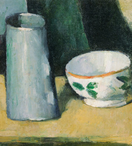 Art Prints of Bowl and Milk Jug by Paul Cezanne