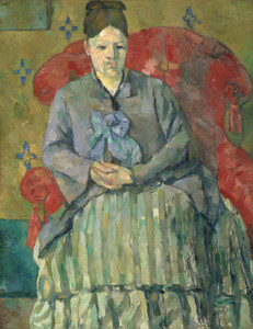 Art Prints of Madame Cezanne in a Red Armchair by Paul Cezanne