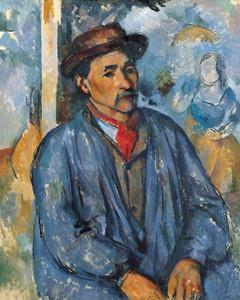 Art Prints of Man in a Blue Smock by Paul Cezanne