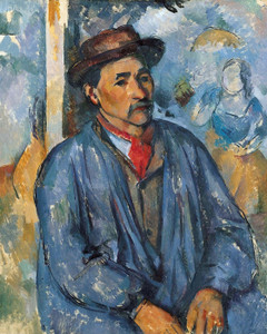 Art Prints of Man in a Blue Smock by Paul Cezanne