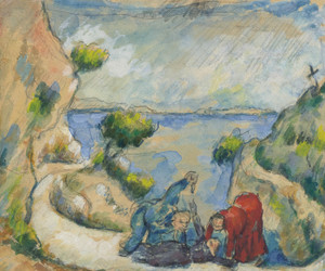 Art Prints of Murder in the Ravine by Paul Cezanne
