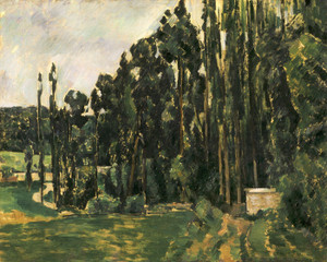Art Prints of Poplars by Paul Cezanne