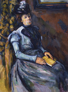 Art Prints of Seated Woman in Blue by Paul Cezanne
