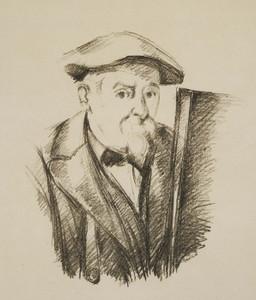 Art Prints of Drawing of a Self Portrait by Paul Cezanne