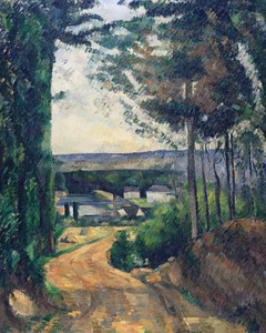 Art Prints of Road Leading to the Lake by Paul Cezanne