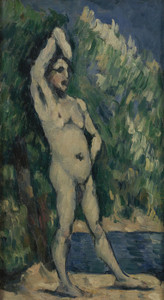 Art Prints of Standing Baigneuse Man or Bather by Paul Cezanne