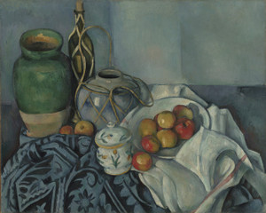 Art Prints of Still Life with Apples by Paul Cezanne