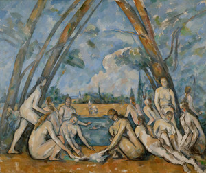Art Prints of The Large Bathers by Paul Cezanne