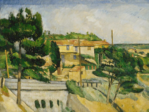 Art Prints of The Road Bridge at L'Estaque by Paul Cezanne