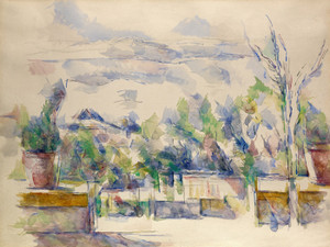 Art Prints of The Terrace at the Garden at Les Lauves by Paul Cezanne
