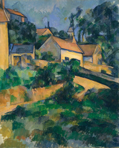 Art Prints of Turning Road at Montgeroult by Paul Cezanne