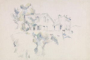 Art Prints of View of the Chateau Noir by Paul Cezanne