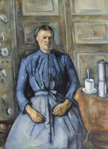 Art Prints of Woman with a Coffeepot by Paul Cezanne